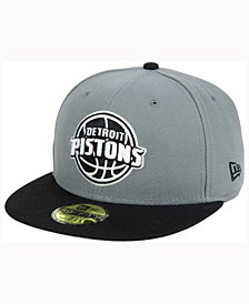 New Era Detroit Pistons 2-Tone Gray Black 59FIFTY Cap
