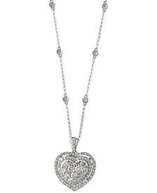 Bouquet by EFFY® Diamond Heart Pendant Necklace (1-1/8 ct. t.w.) in 14k White Gold