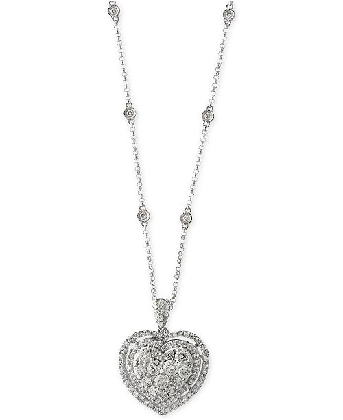 6f6f9ec9f4d5b1 ... EFFY Collection Bouquet by EFFY® Diamond Heart Pendant Necklace  (1-1/8 ...
