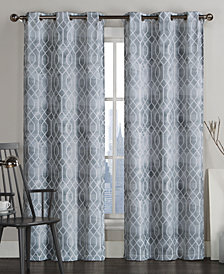 "Victoria Classics Andreaston Pair of 38"" x 96"" Grommet Window Panels"