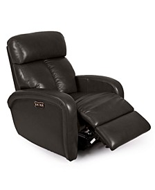 Criss Leather Power Recliner with Power Headrest and USB Power Outlet