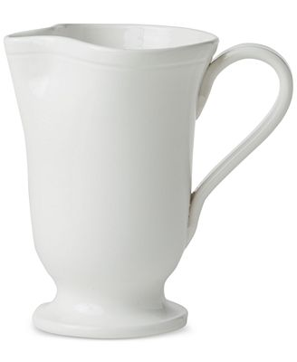 VIETRI Fresh Collection Large Footed Pitcher