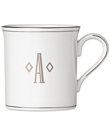 Federal Platinum Monogram Mug, Block Letters