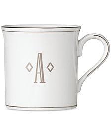 Lenox Federal Platinum Monogram Mug, Block Letters