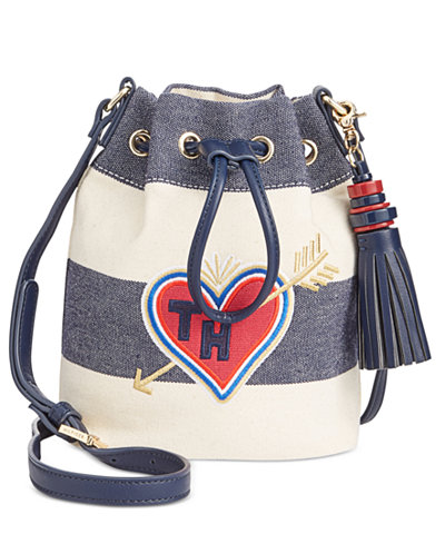 Tommy Hilfiger Summer of Love Rugby Small Bucket Crossbody