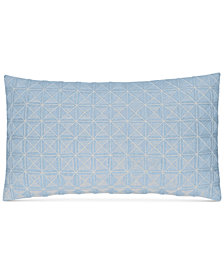 "CLOSEOUT! Hotel Collection  Cornflower Linen 14"" x 26"" Decorative Pillow, Created for Macy's"