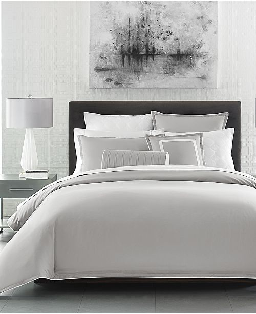 Hotel Collection Contrast Flange Duvet Covers, Created For