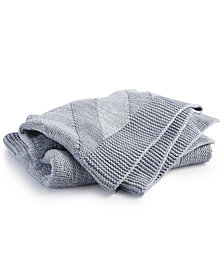 Hotel Collection Marled Knit Throw, Created for Macy's