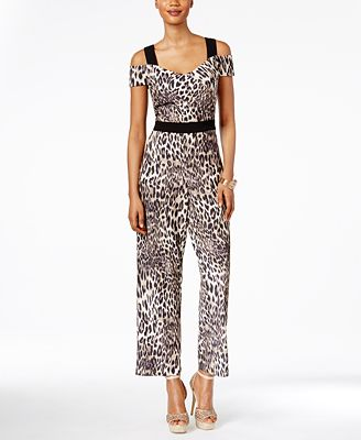 Thalia Sodi Off-The-Shoulder Printed Jumpsuit, Only at Macy's
