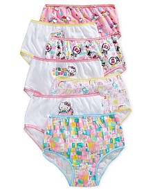 Hello Kitty Cotton Panties, 7-Pack, Toddler Girls