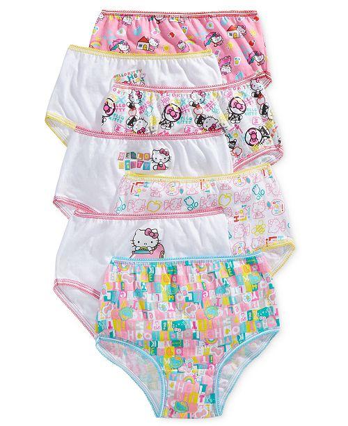 Disney Hello Kitty Cotton Panties, 7-Pack, Toddler Girls