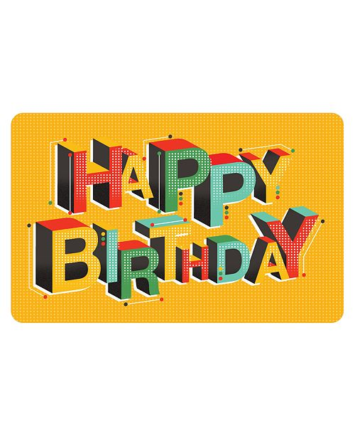 Happy Birthday Gift Card With Letter