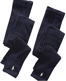 Polo Ralph Lauren Footless Tights 2 Pack, Little Girls & Big Girls