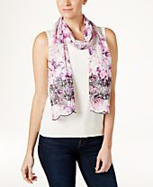 INC International Concepts Eyelet Floral Skinny Scarf, Created for Macy's