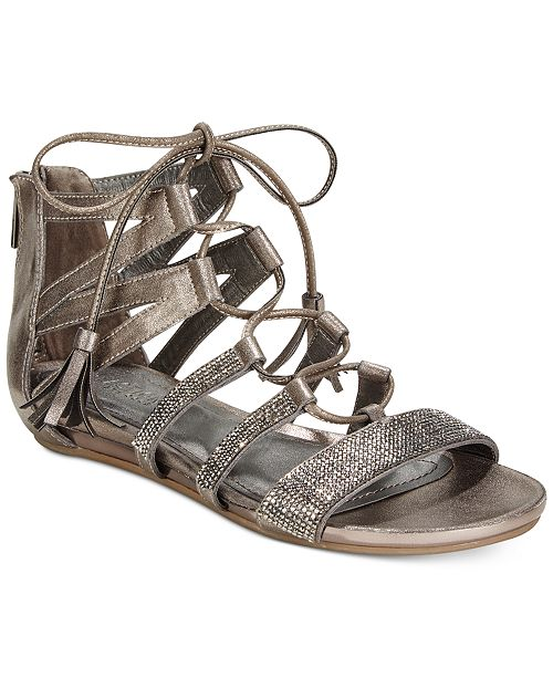 bb7063ddeba3 Kenneth Cole Reaction Women s Lost Look 2 Lace-Up Gladiator Sandals ...