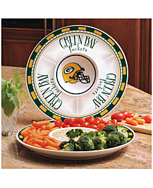 Memory Company Green Bay Packers Ceramic Round Chip & Dip Plate
