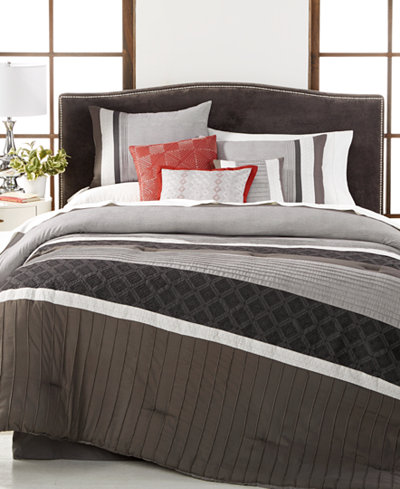 CLOSEOUT! Meridian Reversible 7-Pc. Full Comforter Set