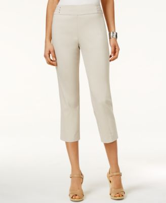 Image of JM Collection Embellished Pull-On Capri Pants, Only at Macy's