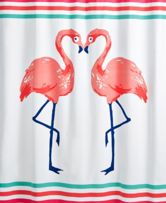 Whim By Martha Stewart Collection Flamingo Kiss Shower Curtain, Created For  Macyu0027s