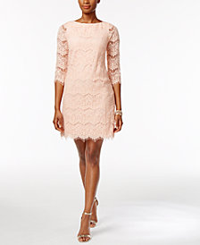 Jessica Howard Lace Illusion Sheath Dress