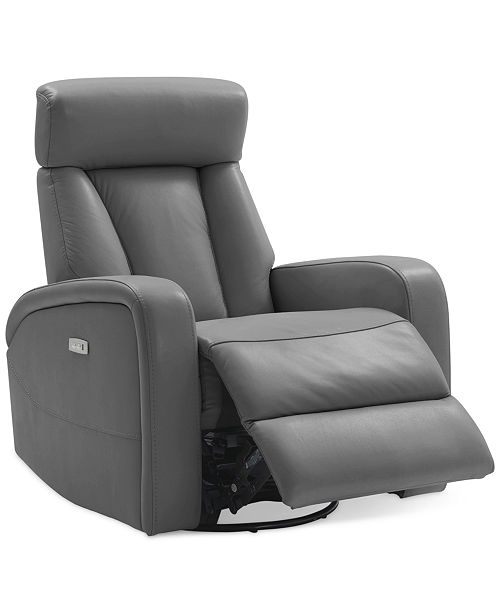 Amazing Dasia Leather Swivel Rocker Power Recliner With Articulating Headrest And Usb Power Outlet Machost Co Dining Chair Design Ideas Machostcouk