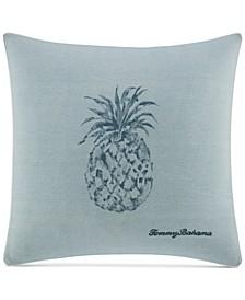 "Raw Coast 22"" Square Pineapple Decorative Pillow"