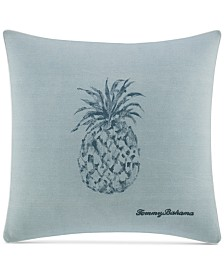 "CLOSEOUT! Tommy Bahama Home Raw Coast 22"" Square Pineapple Decorative Pillow"