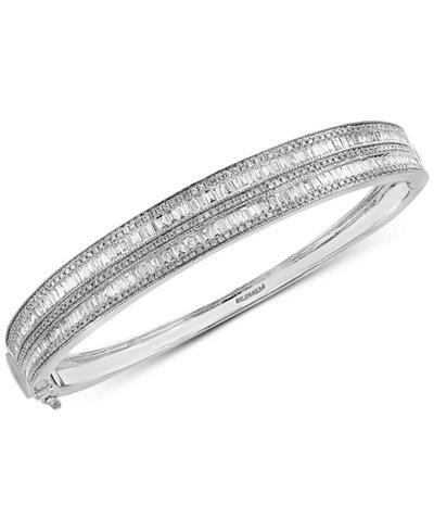 Classique by EFFY® Diamond Bangle Bracelet (2-1/3 ct. t.w.) in 14k White Gold