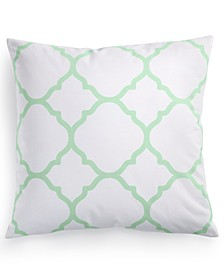 "Geometric 18"" Square Decorative Pillow, Created for Macy's"