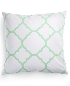 "CLOSEOUT! Charter Club Damask Designs Geometric 18"" Square Decorative Pillow, Created for Macy's"