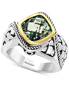 EFFY® Balissima Green Amethyst Ring (3-1/10 ct. t.w.) in Sterling Silver and 18k Gold