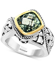 EFFY® Balissima Prasiolite Ring (3-1/10 ct. t.w.) in Sterling Silver and 18k Gold
