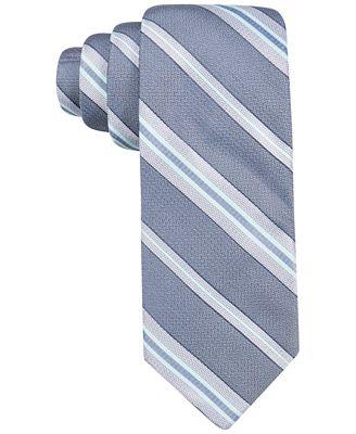 Ryan Seacrest Distinction™ Men's Imperial Stripe Slim Tie, Only at Macy's