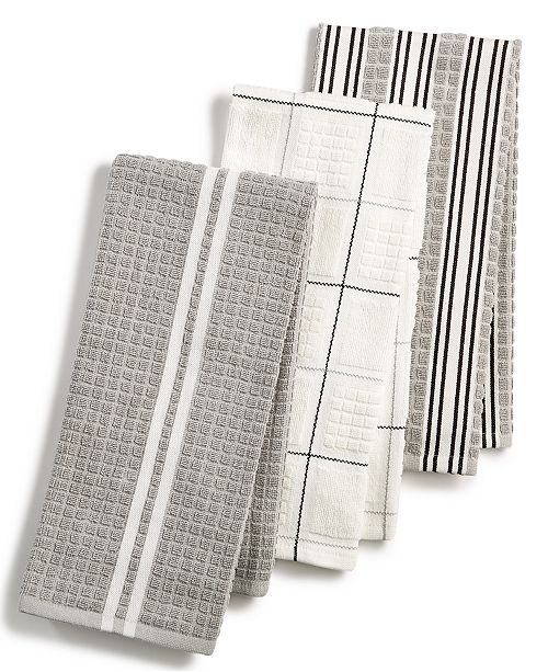 3-Pc. Terry Cloth Kitchen Towels, Created for Macy\'s