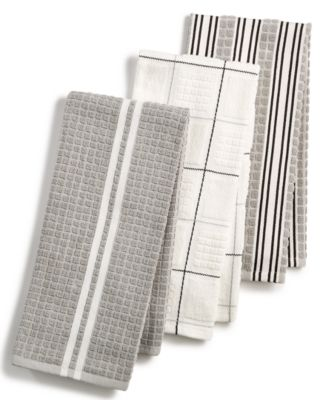 Bon Martha Stewart Collection 3 Pc. Terry Cloth Kitchen Towels, Created For  Macyu0027s