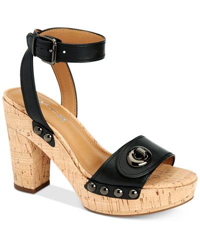 COACH Alanna Platform Sandals