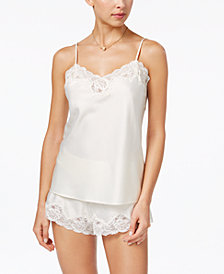 Lauren Ralph Lauren Satin Camisole and Shorts Pajama Set