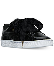 Puma Women's Basket Hearts Patent Sneakers from Finish Line