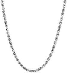 Rope Chain Necklace (2-1/2mm) in 14k White Gold