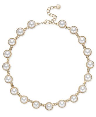 Charter Club Gold-Tone Imitation Pearl Necklace, Created for Macy's