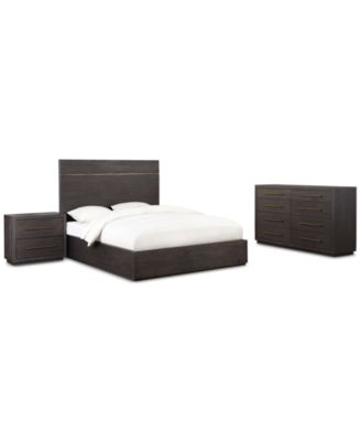 cambridge storage platform bedroom furniture 3pc set california king bed dresser u0026 nightstand created for macyu0027s