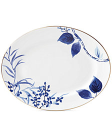 "kate spade new york Birch Way Indigo Collection 13"" Oval Platter"