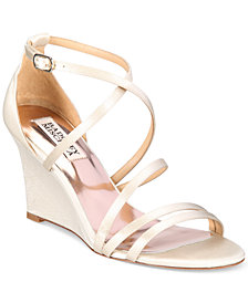 Badgley Mischka Bonanza Strappy Wedge Evening Sandals