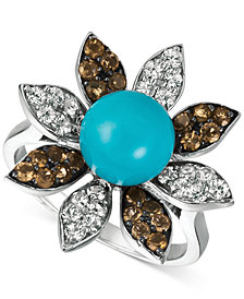 Le Vian® Multi-Gemstone Ring (4-1/6 ct. t.w.) in 14k White Gold