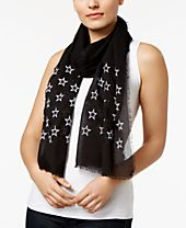 INC International Concepts Embroidered Stars Scarf, Created for Macy's