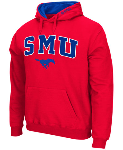 Colosseum Men's Southern Methodist Mustangs Arch Logo Hoodie