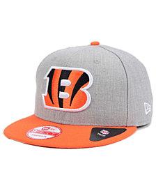 New Era Cincinnati Bengals Heather 2-Tone 9FIFTY Snapback Cap