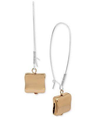 Robert Lee Morris Soho Two-Tone Wire Drop Earrings