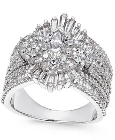 Diamond Cluster Ring (2-3/4 ct. t.w.) in 14k White Gold