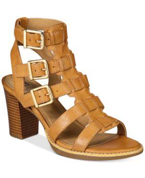 White Mountain Gemmy Block-Heel Dress Sandals Women